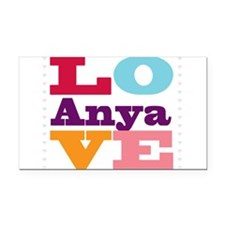 I Love Anya Rectangle Car Magnet