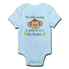 Big Brother To Be Monkey Onesie