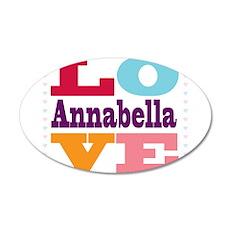 I Love Annabella 20x12 Oval Wall Decal