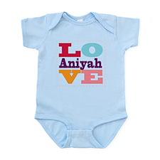 I Love Aniyah Infant Bodysuit