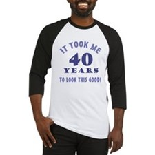 Hilarious 40th Birthday Gag Gifts Baseball Jersey