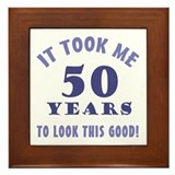 Hilarious 50th Birthday Gag Gifts Framed Tile