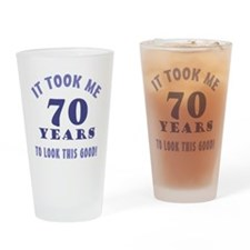 Hilarious 70th Birthday Gag Gifts Drinking Glass