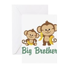 Big Brother Monkeys Greeting Cards (Pk of 10)