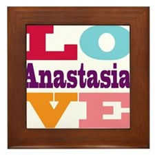 I Love Anastasia Framed Tile