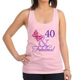 40 And Fabulous Racerback Tank Top