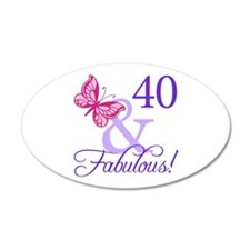 40 And Fabulous Decal Wall Sticker