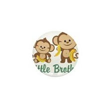 Little Brother To Be Monkey Mini Button