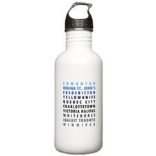 Canadian Cities - Blue Water Bottle