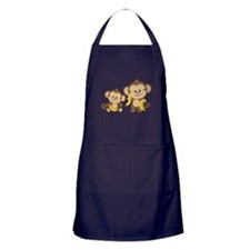Little Monkeys Apron (dark)