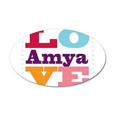 I Love Amya 35x21 Oval Wall Decal