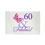 60 And Fabulous Rectangle Magnet (100 pack)