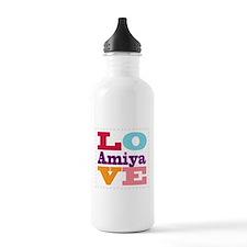 I Love Amiya Water Bottle