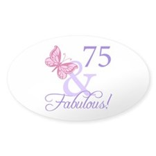 75 And Fabulous Decal