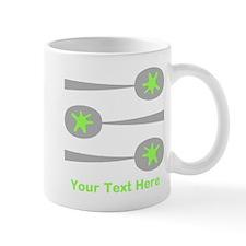 Spoons, Green Custom Text. Mug