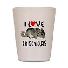I Love Chinchillas Shot Glass