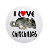 I Love Chinchillas Ornament (Round)