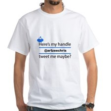 Personalized Twitter Handle Username Tee Shirt
