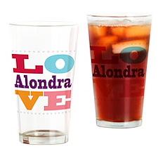 I Love Alondra Drinking Glass