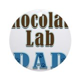 Chocolate Lab Dad Colors Ornament (Round)