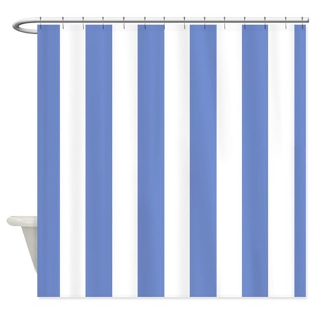 Sky blue stripes shower curtain by stripstrapstripes for Blue and white striped bathroom accessories