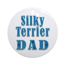 Silky Terrier Dad Ornament (Round)