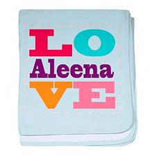 I Love Aleena baby blanket