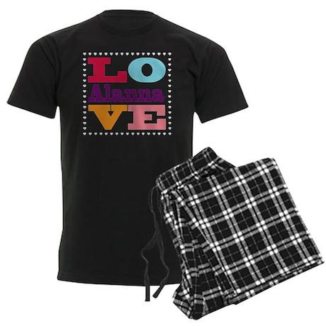 I Love Alanna Men's Dark Pajamas