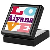 I Love Aiyana Keepsake Box