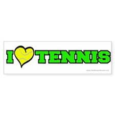 I (Heart) Tennis Bumper Bumper Sticker