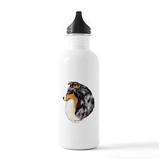 Blue Merle Shetland Sheepdog Sports Water Bottle