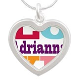 I Love Adrianna Silver Heart Necklace