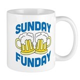 Sunday Funday Drinking Shirt Small Mugs