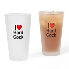 Hard Cock Drinking Glass