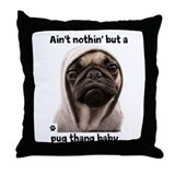 Funny Pug Throw Pillow