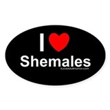 Shemales Oval Decal
