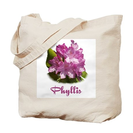 Phyllis: Purple Flower Tote Bag