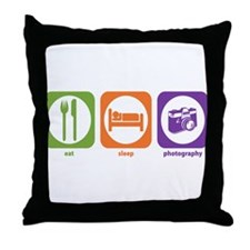 Eat Sleep Photography Throw Pillow