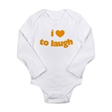 I Love To Laugh Long Sleeve Infant Bodysuit