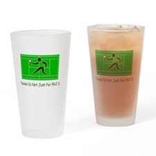 Tennis Pro Drinking Glass