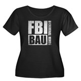 FBI BAU Criminal Minds Women's Plus Size Scoop Nec