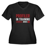 Profiler in Training Women's Plus Size V-Neck Dark