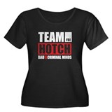 Team Hotch Women's Plus Size Scoop Neck Dark T-Shi