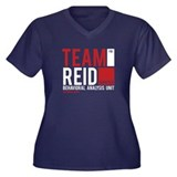 Team Reid Women's Plus Size V-Neck Dark T-Shirt