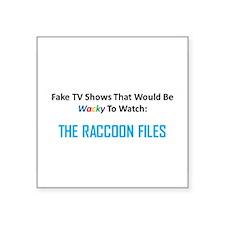 Fake TV Shows Series: THE RACCOON FILES Square Sti