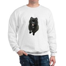 Adorable Black Pomeranian Puppy Dog Sweatshirt