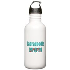 Labradoodle Mom Hearts Water Bottle