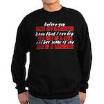 Dig the Hole - Daughter Dating Sweatshirt (dark)
