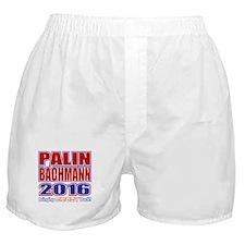 Bachmann Palin President 2016 Crazy Back Boxer Sho