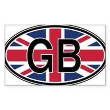 Great Britain Euro Oval Decal Decal